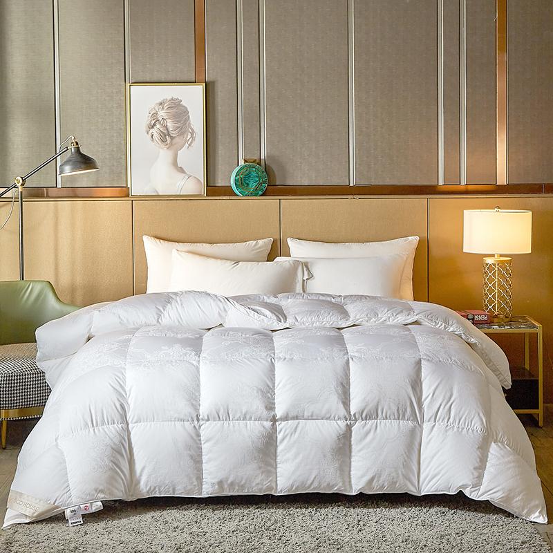 COCO HOUSE 2020新款80支全棉大提花鹅绒被 白色