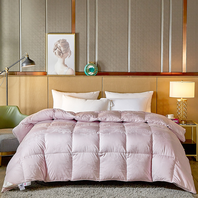 COCO HOUSE 2020新款80支全棉大提花鹅绒被 紫色