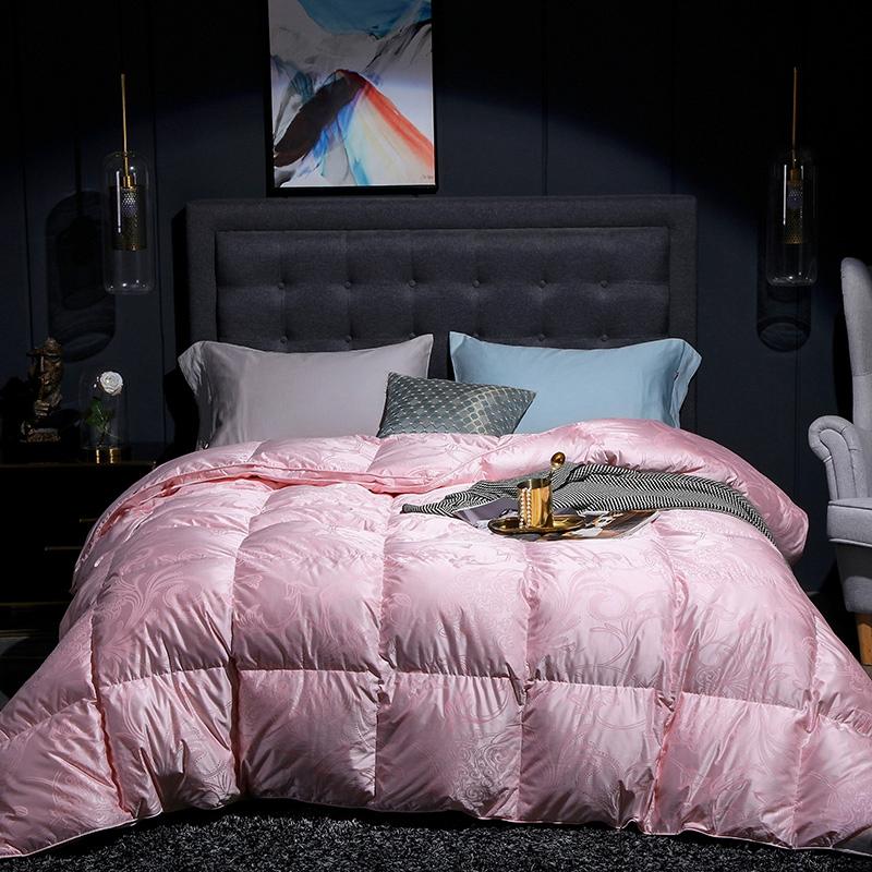 COCO HOUSE 2020新款真丝大提花鹅绒被 粉色