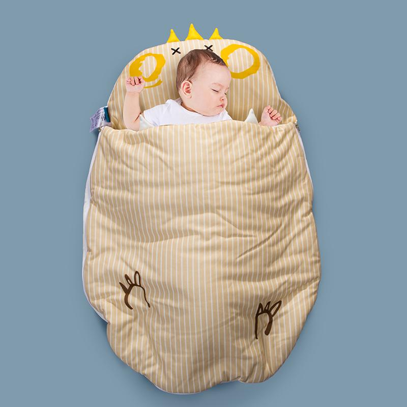 小芽家居 2020新款亲肤针织棉宝宝睡袋 皇冠鸡