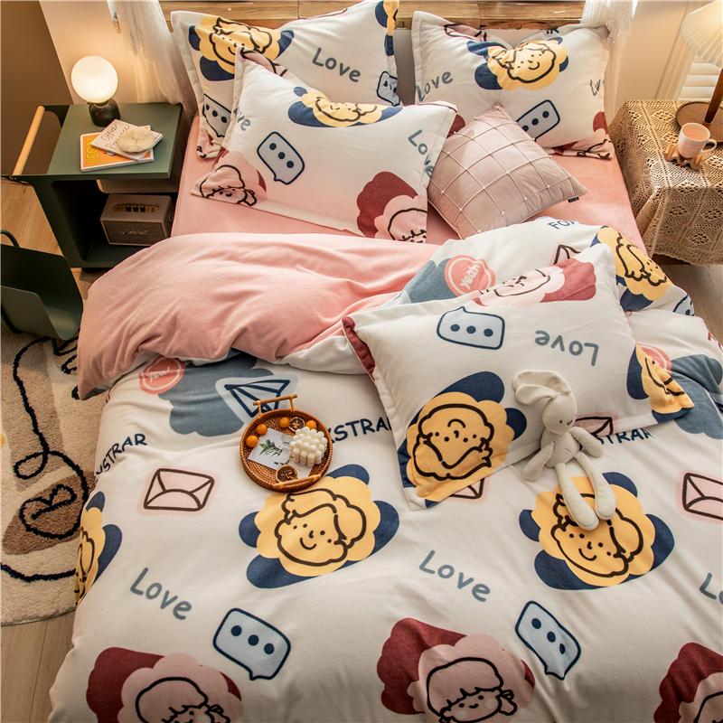 拂微家纺 2020新款牛奶绒枕套48*74cm/对 少年时光