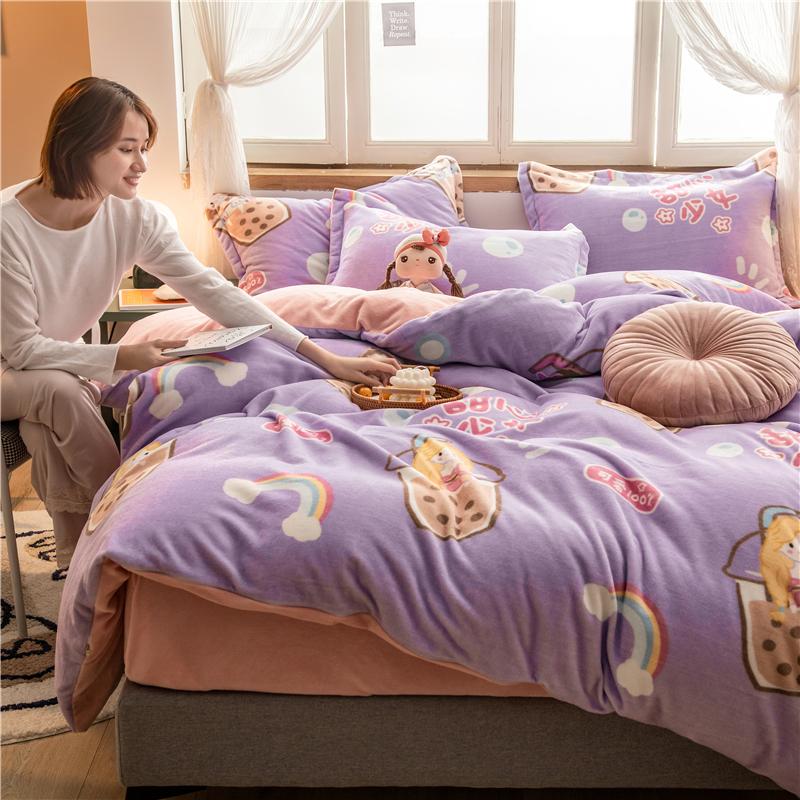 拂微家纺 2020新款牛奶绒枕套48*74cm/对 珍珠奶茶