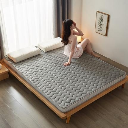 钻爱 2021秋冬新品水晶绒乳胶记忆棉床垫 灰色经典