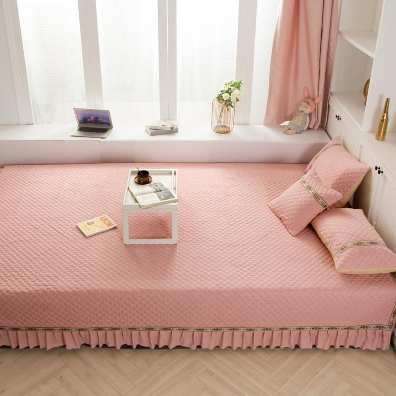 富亿欣 2020新款英格尼纯色炕垫 粉色