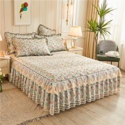 (总)十个点家纺 2020新款全棉蕾丝夹棉单床裙