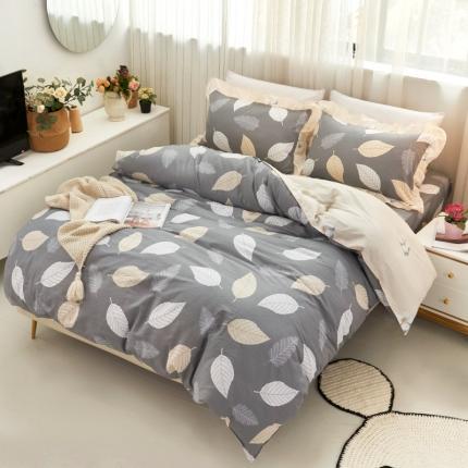 爱妮玖玖 套件7 全棉普款单层床笠四件套不含包装