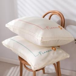 全棉小清新枕芯 立体绣花洋甘菊羽丝绒枕芯枕头