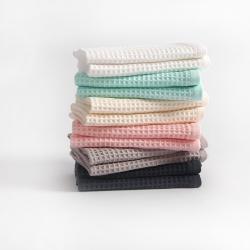 (总)针织棉舍 2021新款吸水全棉华夫格浴巾毛巾手巾三件套