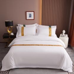(总)暖居酒店风60支喷气贡缎全棉织锦系列宾馆四件套