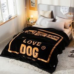 (总)丹兰家纺 双层加厚拉舍尔毛毯冬季保暖毛毯被