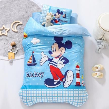 (总)迪士尼家居馆 2020新款宝宝绒数码印花幼儿园套件