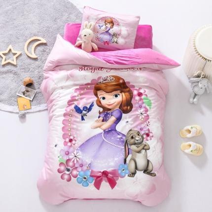 迪士尼家居馆 2020新款宝宝绒数码印花幼儿园套件可爱苏菲亚