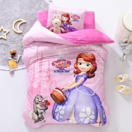 迪士尼家居馆 2020新款宝宝绒数码印花幼儿园套件甜美苏菲亚