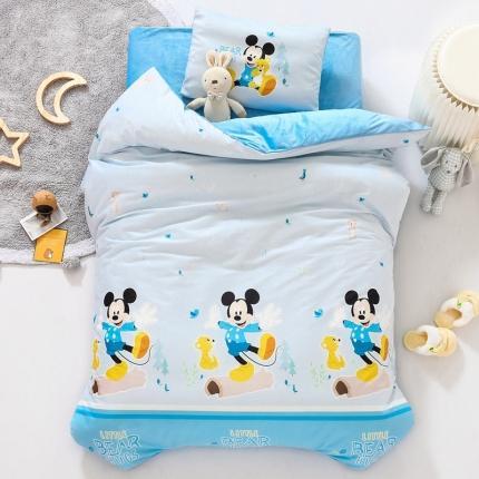 迪士尼家居馆 2020新款宝宝绒数码印花幼儿园套件 童年米奇