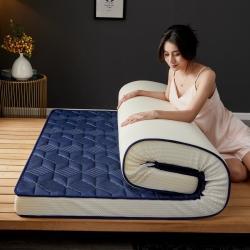 (总)迪乐妮立体乳胶记忆棉床垫立体乳胶-3D菱形蓝