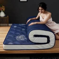 (总)迪乐妮 立体乳胶记忆棉床垫立体乳胶-大曲格蓝苹果