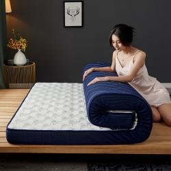 (总)迪乐妮 立体乳胶记忆棉床垫立体乳胶-竹节格水绿
