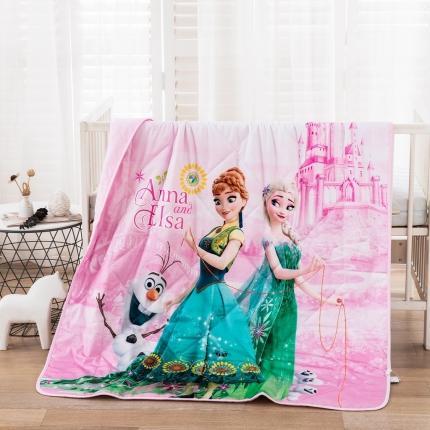 (总)迪士尼2021新款喷气全棉数码印花儿童卡通迪士尼夏凉被