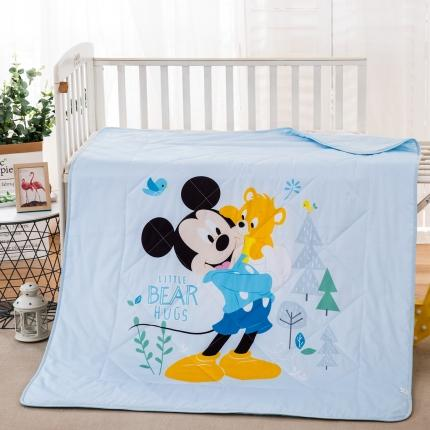 迪士尼2021新款喷气全棉数码印花儿童卡通迪士尼夏凉被 快乐米奇