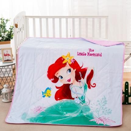 迪士尼2021新款喷气全棉数码印花儿童卡通迪士尼夏凉被 美丽公主