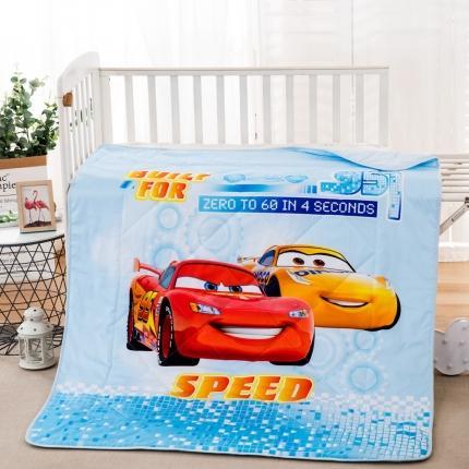 迪士尼2021新款喷气全棉数码印花儿童卡通迪士尼夏凉被 汽车王子