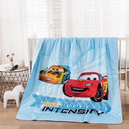 迪士尼2021新款喷气全棉数码印花儿童卡通迪士尼夏凉被 汽车兄弟