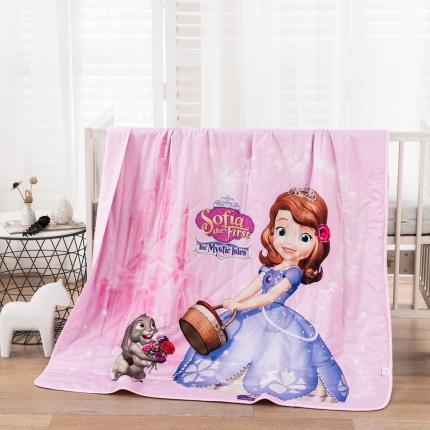 迪士尼2021新款喷气全棉数码印花儿童卡通迪士尼夏凉被 甜美苏菲亚