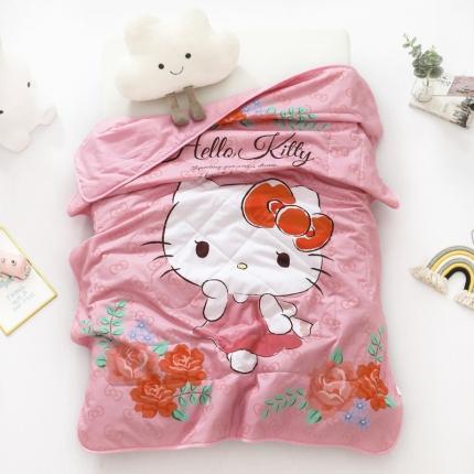 迪士尼 2021新款喷气全棉数码印花儿童卡通凯蒂猫夏凉被 蔷薇之恋