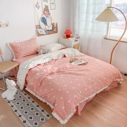 总-潘朵拉2021网红韩版全棉13372爱心床裙床单款四件套