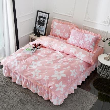 爱妮玖玖套件1-2 印花夹棉普款床罩四件套(不含包装)