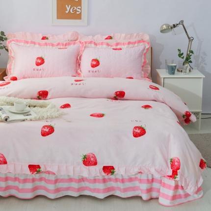 爱妮玖玖 套件10:全棉夹棉床单(床盖)四件套暖冬款