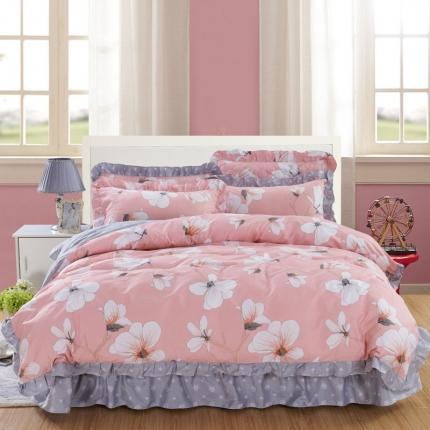 爱妮玖玖 套件9:全棉床裙式床单四件套春天款
