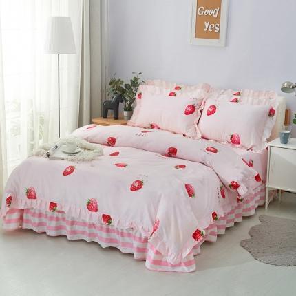 爱妮玖玖 套件9:全棉床裙式床单四件套暖冬款