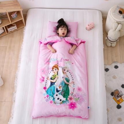 迪士尼家居馆2021儿童卡通印花多功能防踢被睡袋 冰雪姐妹花