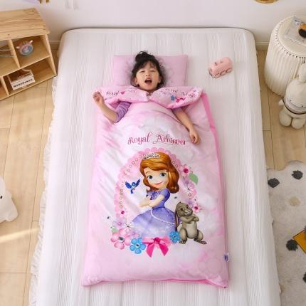 迪士尼家居馆2021儿童卡通印花多功能防踢被睡袋 可爱苏菲亚