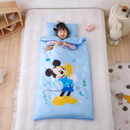 迪士尼家居馆2021儿童卡通印花多功能防踢被睡袋 快乐米奇