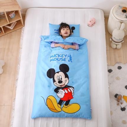 迪士尼家居馆2021儿童卡通印花多功能防踢被睡袋 阳光米奇