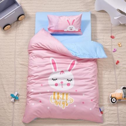 美真宝贝2021幼儿园13374丝光棉大版三件套 可爱兔