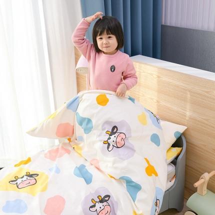美真宝贝纯棉活性40支A类幼儿园三件套多件套全棉床品牛宝宝