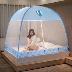 总-舞夜盛世防尘顶防蚊魔术免安装蒙古包蚊帐坐床式360度防蚊