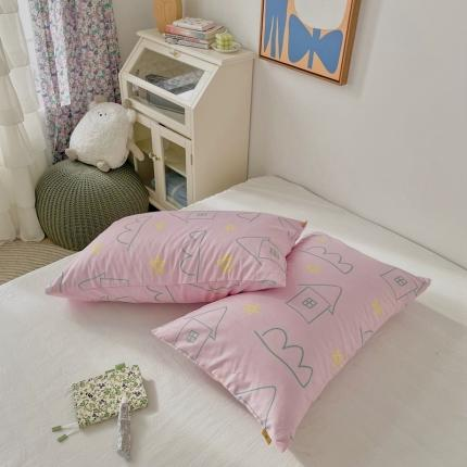 四方米 2020新款40支13372全棉单品枕套一对 星夜粉