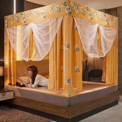 (总)夏彩 44坐床遮光床帘蚊帐