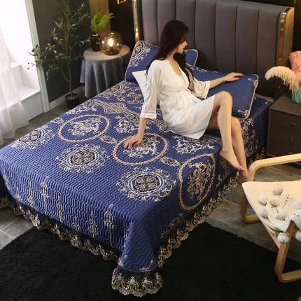 (总)莱轩席业 2021新款蕾丝床盖凉席三件套