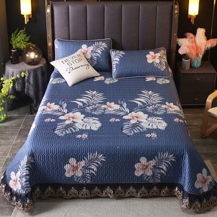 莱轩席业 2021新款蕾丝床盖凉席三件套 秘密花园