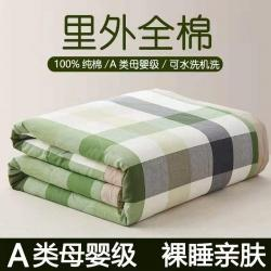 (总)格子铺 2021新款全棉水洗棉棉花夏被