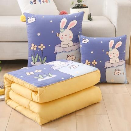 暖树新品抱枕两用靠枕四季车载办公室午睡被汽车空调被口袋兔