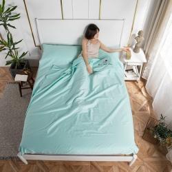 乐童家纺 2021新款60支长绒棉隔脏睡袋-薄荷绿