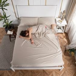 乐童家纺 2021新款60支长绒棉隔脏睡袋-奶驼色