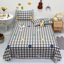萌宝老粗布毛绒玩具 纯棉老粗布三件套床单粗布凉席全棉被单格调