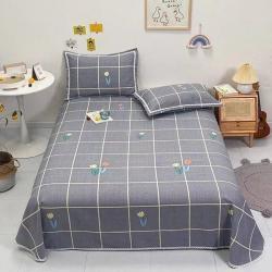 萌宝老粗布毛绒玩具纯棉老粗布三件套床单粗布凉席全棉被单郁金香